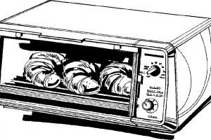 oven clipart black and white 2