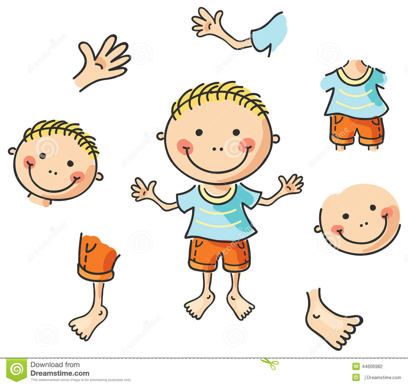 Parts Of The Body For Kids Clipart 2 Clipart Station