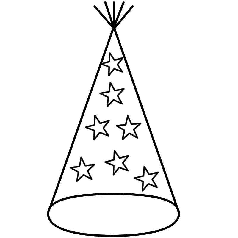 Party Hat Clipart Black And White 3