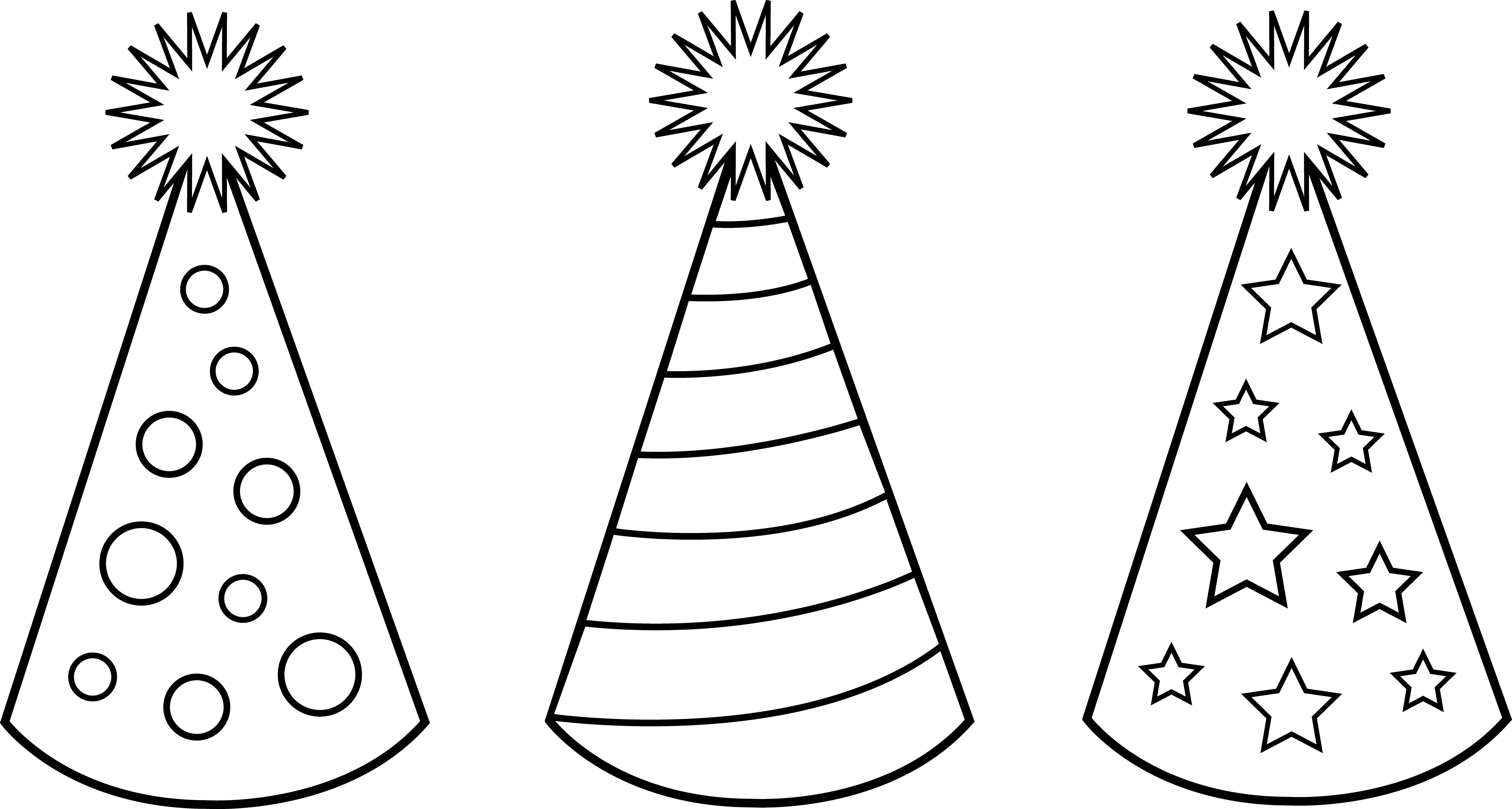 party hat clipart black and white 8 | Clipart Station for Party Hat Clipart Black And White  111ane
