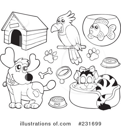 Pet Animals Clipart Black And White 5 Clipart Station