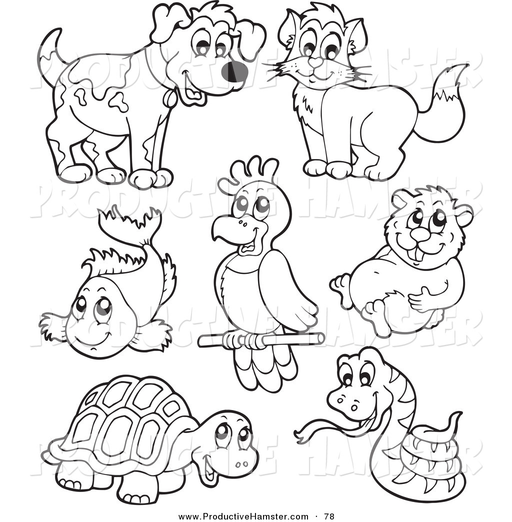 pet animals clipart black and white 6 clipart station