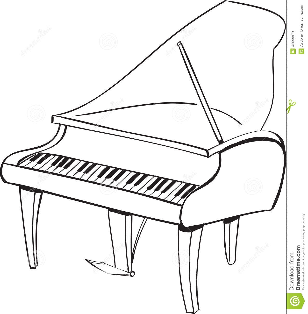 Piano black. Clipart and white station