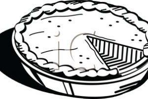 pie clipart black and white 6