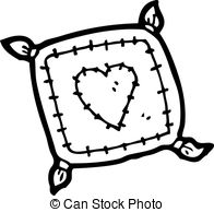 pillow black and white clipart 3