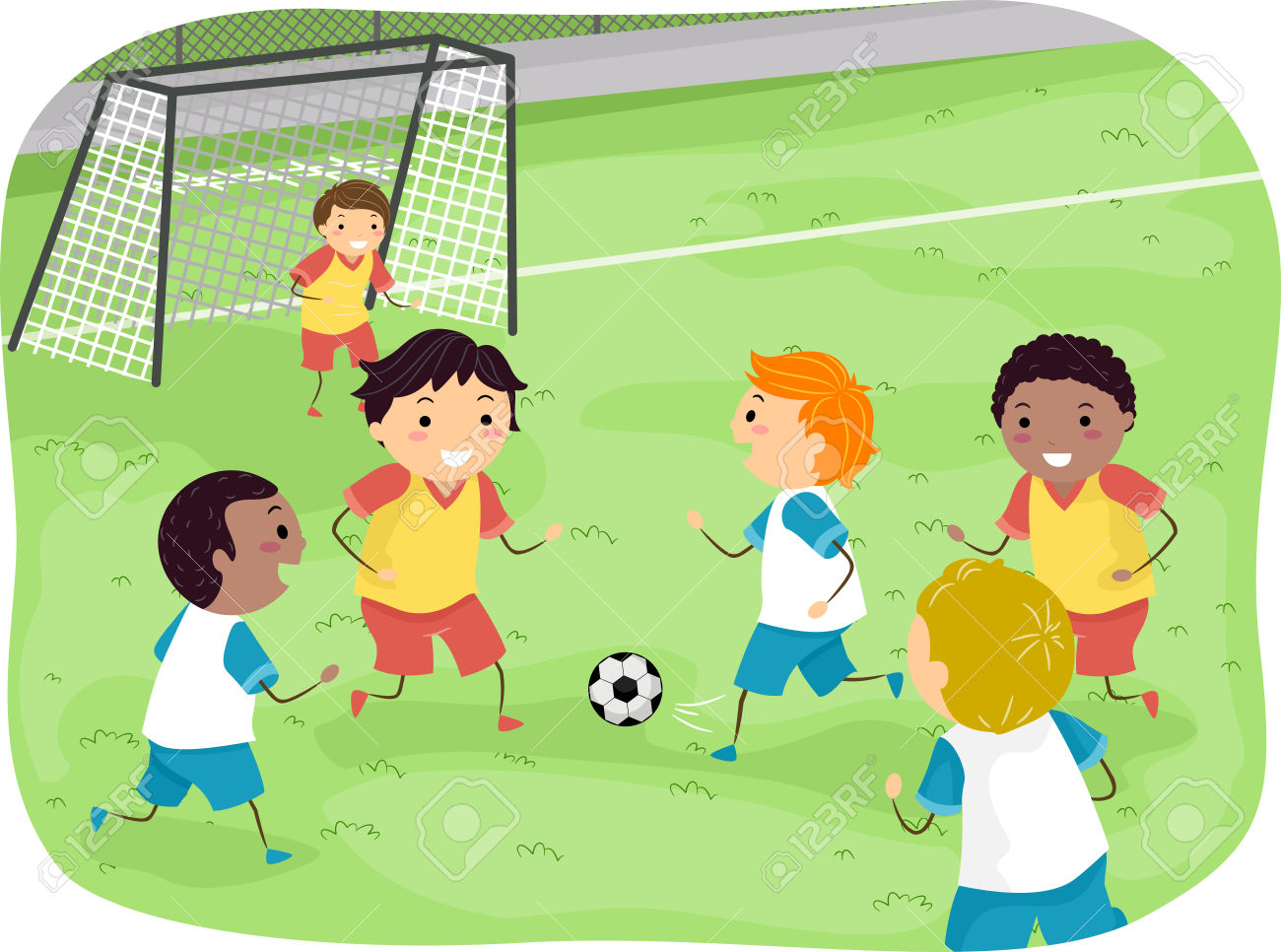 Soccer Clipart Free | Free download on ClipArtMag |Kids Playing Soccer Clipart
