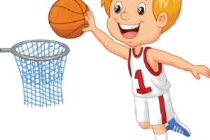 playing basketball clipart