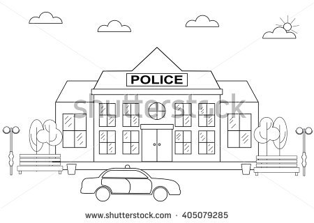 police station building coloring pages - photo#21