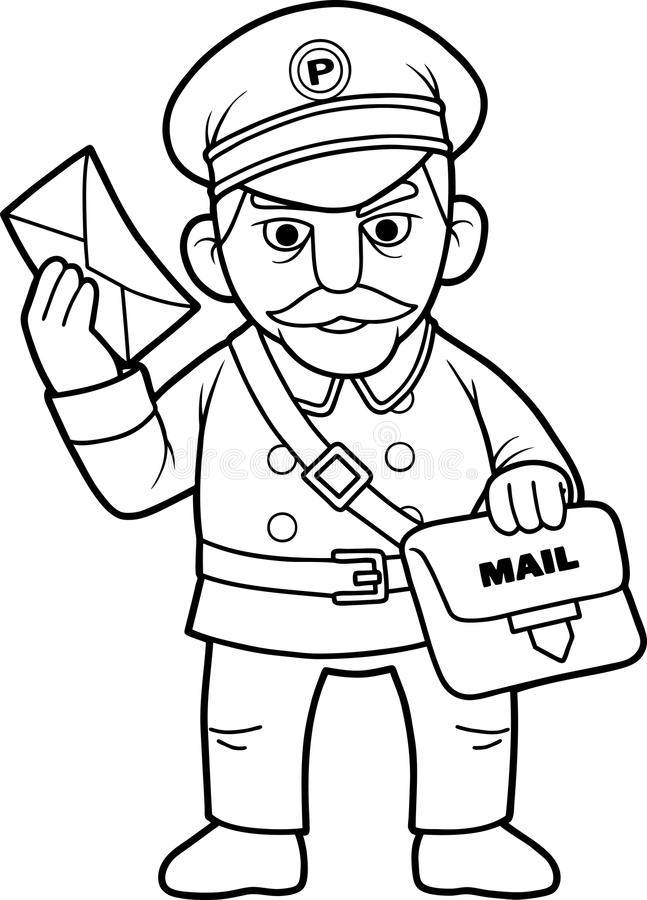 Postman Clipart Black And White 1 Clipart Station