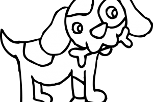 puppy clipart black and white 1