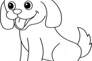 puppy clipart black and white 2