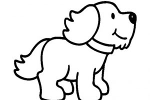 puppy clipart black and white 9