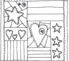 quilt clipart black and white 4