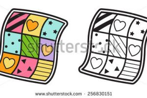 quilt clipart black and white 6