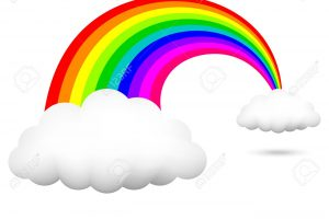 rainbow and clouds clipart 1