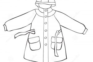 Raincoat Clipart Black And White 1 Clipart Station