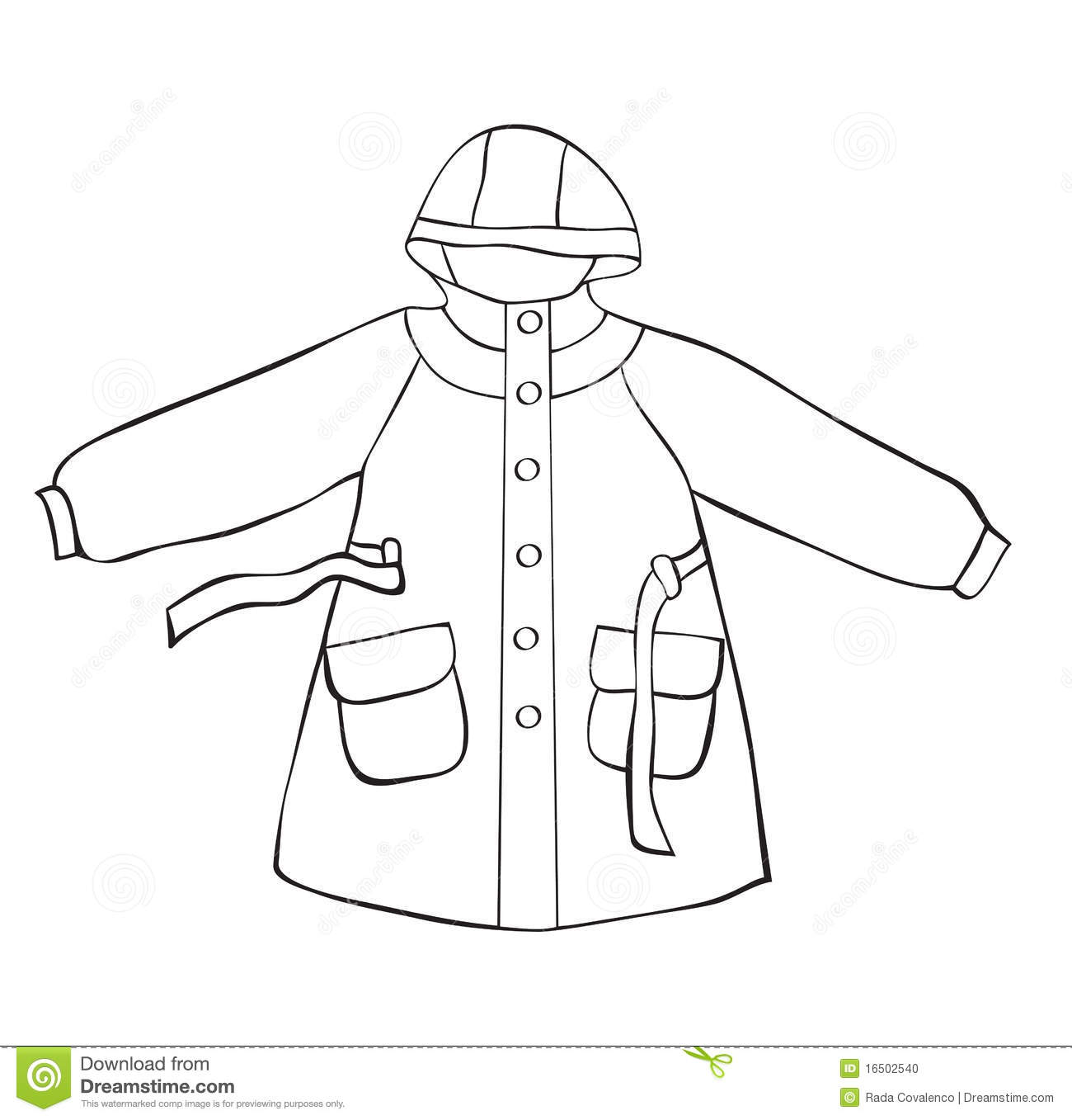 Raincoat Clipart Black And White 2 Clipart Station