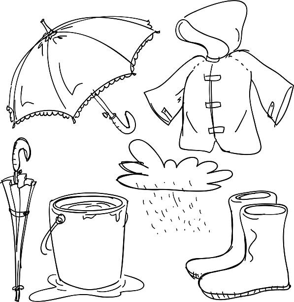 Raincoat Clipart Black And White 3 Clipart Station