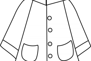 Raincoat Clipart Black And White Clipart Station