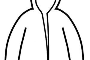 Raincoat Clipart Black And White 6 Clipart Station