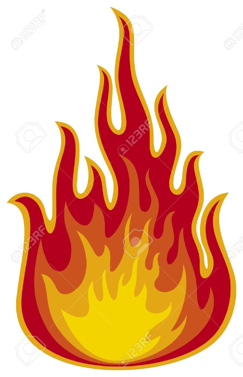 Flames realistic. Fire clipart station