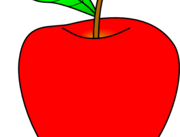 red apple clipart 1