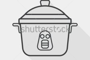 rice cooker clipart black and white 3
