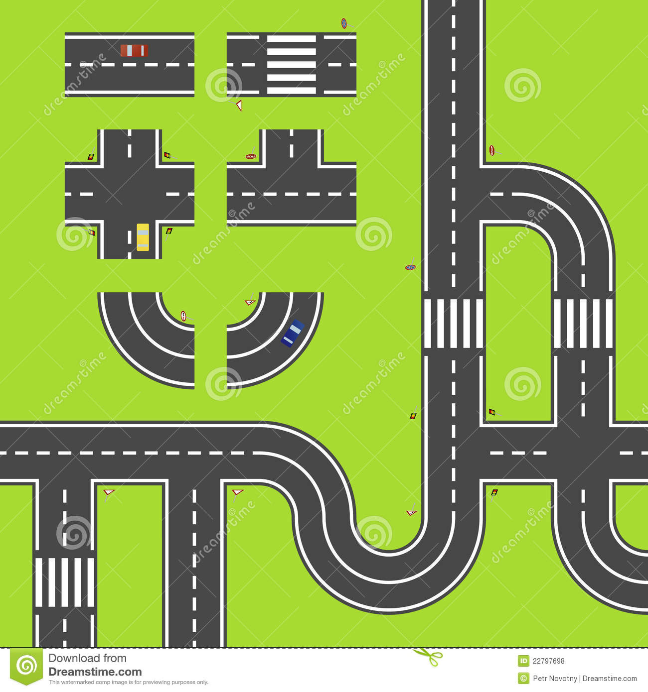 Road Map Clipart 7  Blank Road Map