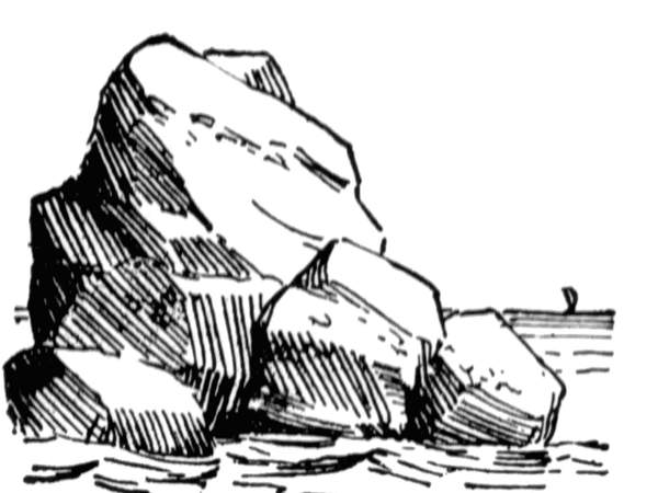 rock clipart black and... Rock Clipart Black And White