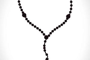 rosary clipart black and white 11