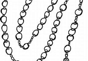 rosary clipart black and white 8
