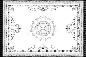 rug clipart black and white 6