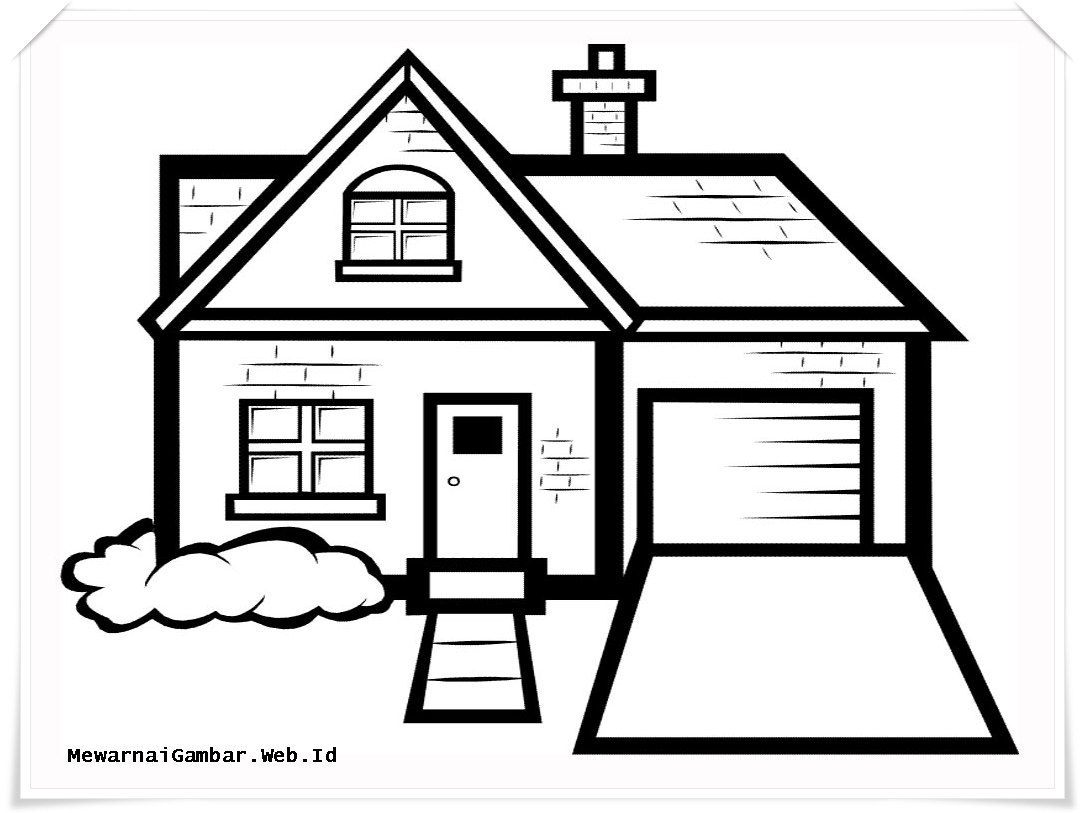 Rumah Clipart Black And White Clipart Station