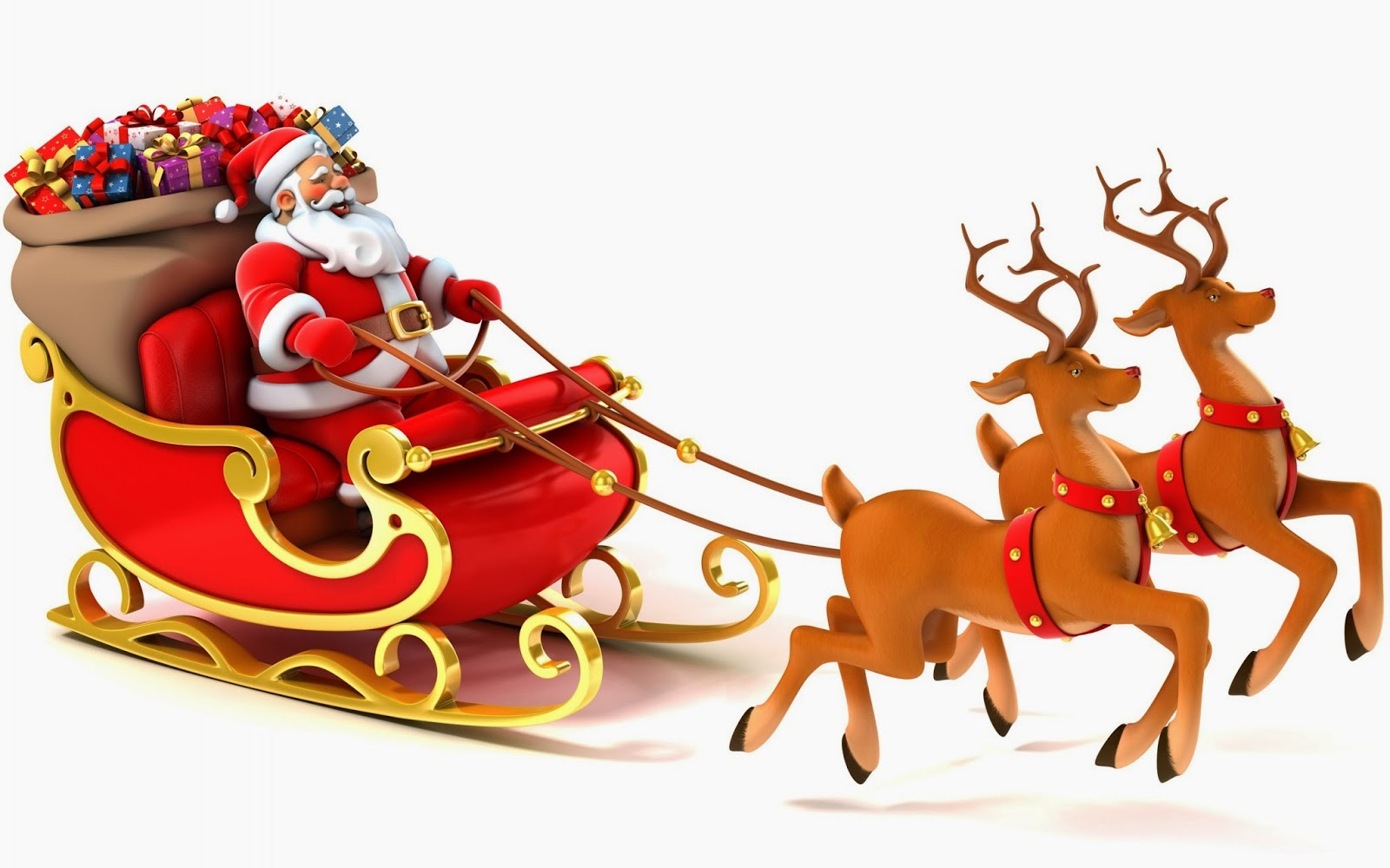 Santa reindeer. Claus with clipart station