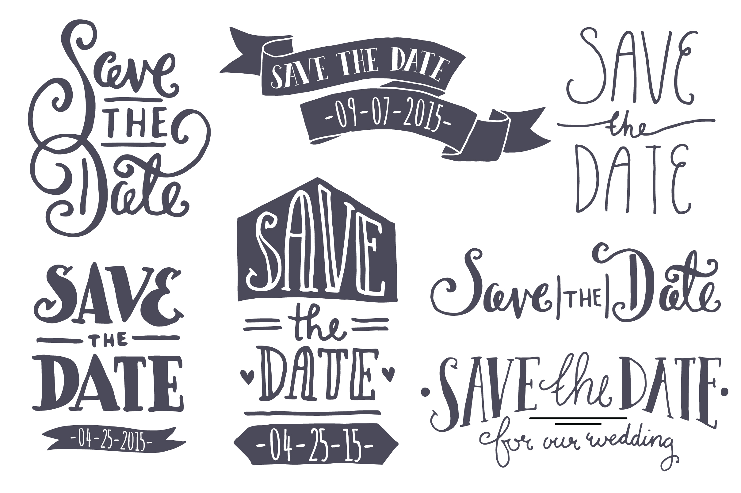 save the date clipart black and white 9