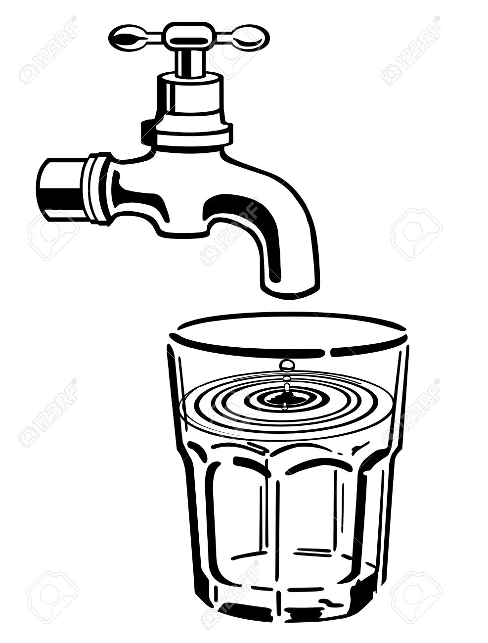 Save water clipart black and white 6 clipart station
