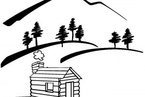 scenery clipart black and white 3