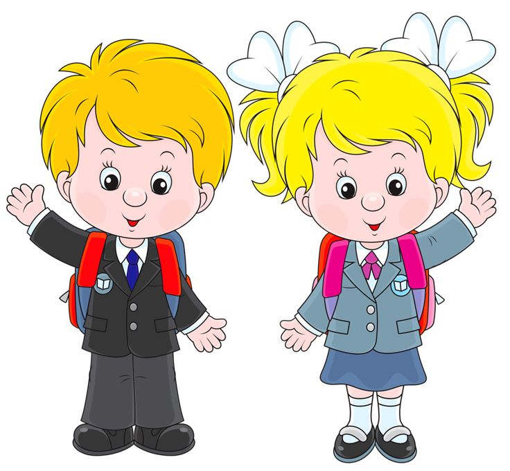school boy and girl clipart 4 | Clipart Station