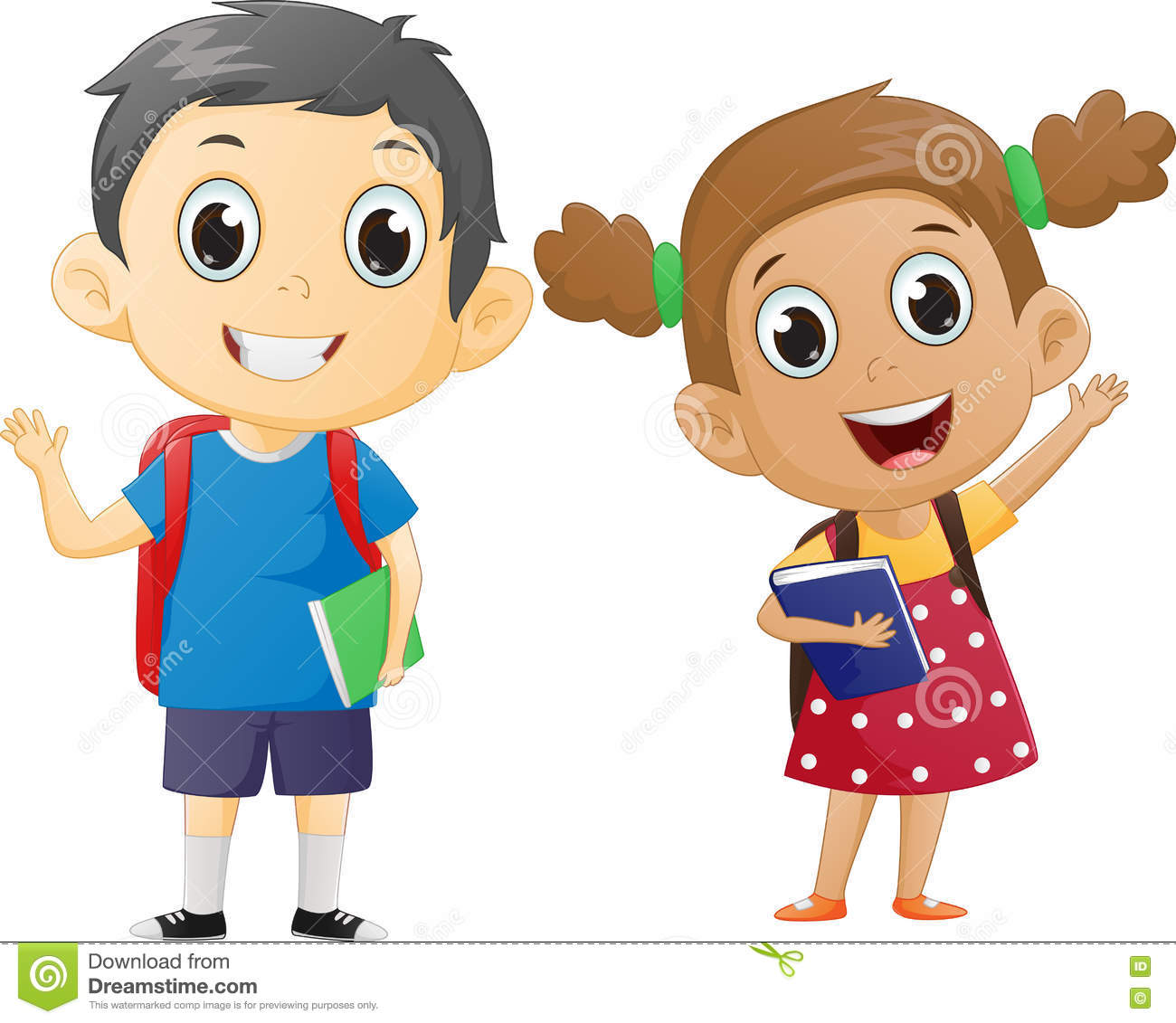 School Boy And Girl Clipart  Clipart Station-4631
