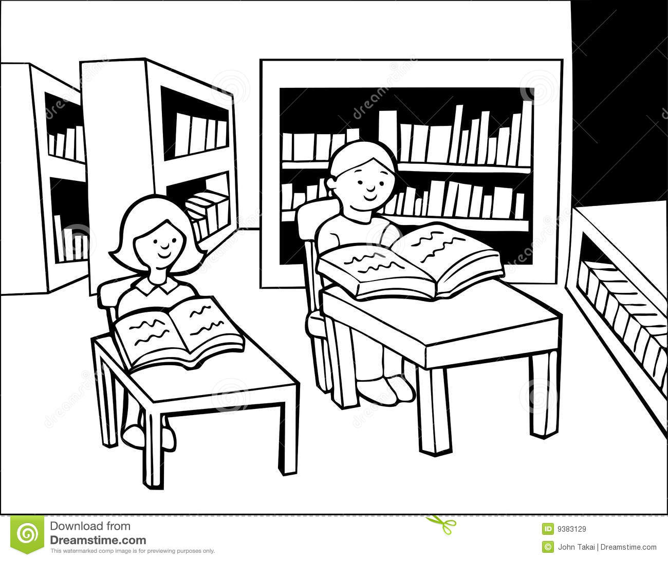 school library clipart black and white 2 » clipart station