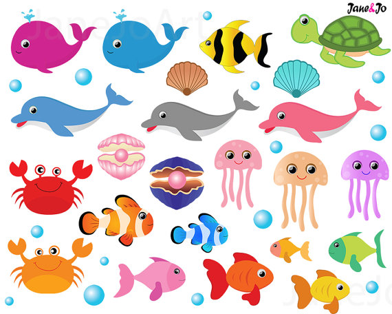Sea animals clipart 6 » Clipart Station