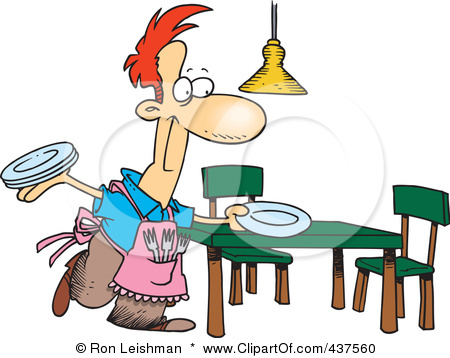 Set the table clipart 4 clipart station - Mettre les couverts a table ...