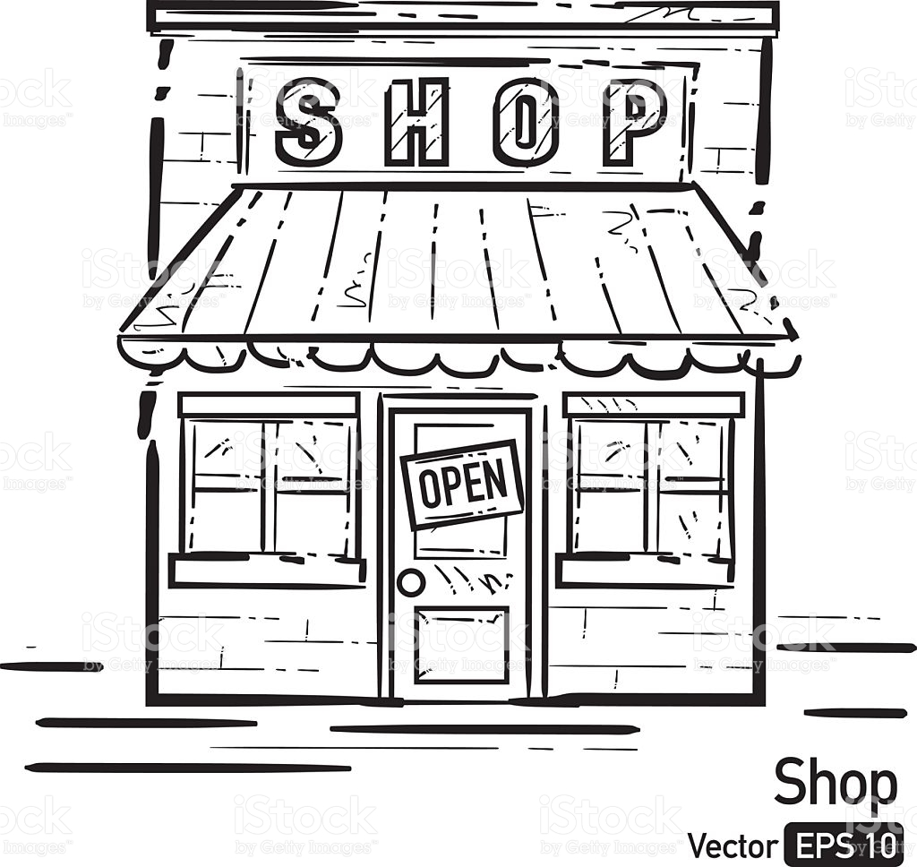 front line clipart vector awning shopping illustrations illustration istock cartoons sign open drawing cartoon clip shops drawings station