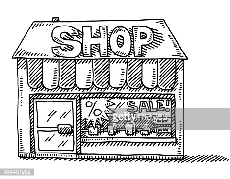 Shop clipart black and white 4 » Clipart Station
