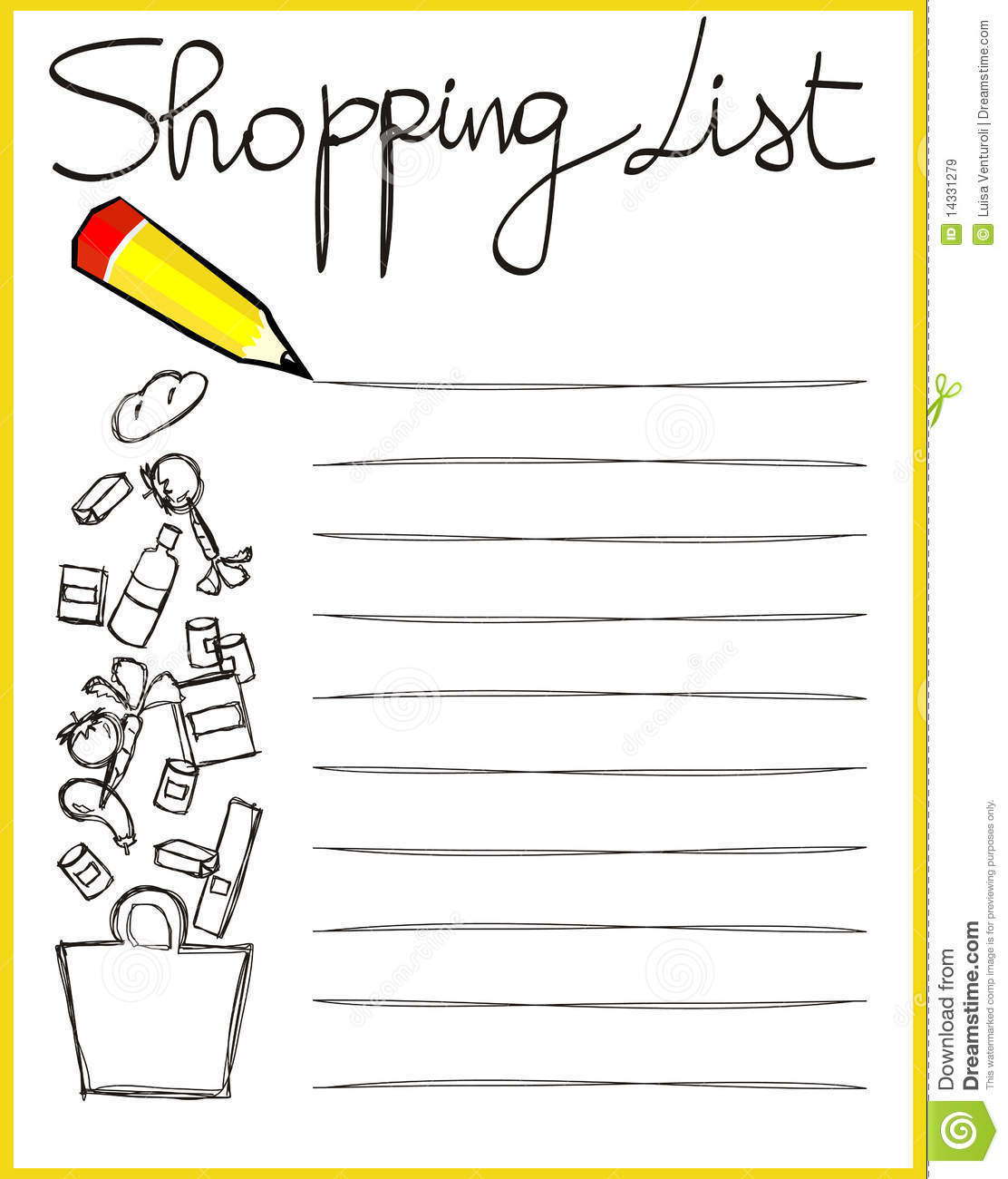 shopping list clipart 6 | Clipart Station