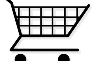 shopping trolley clipart 1