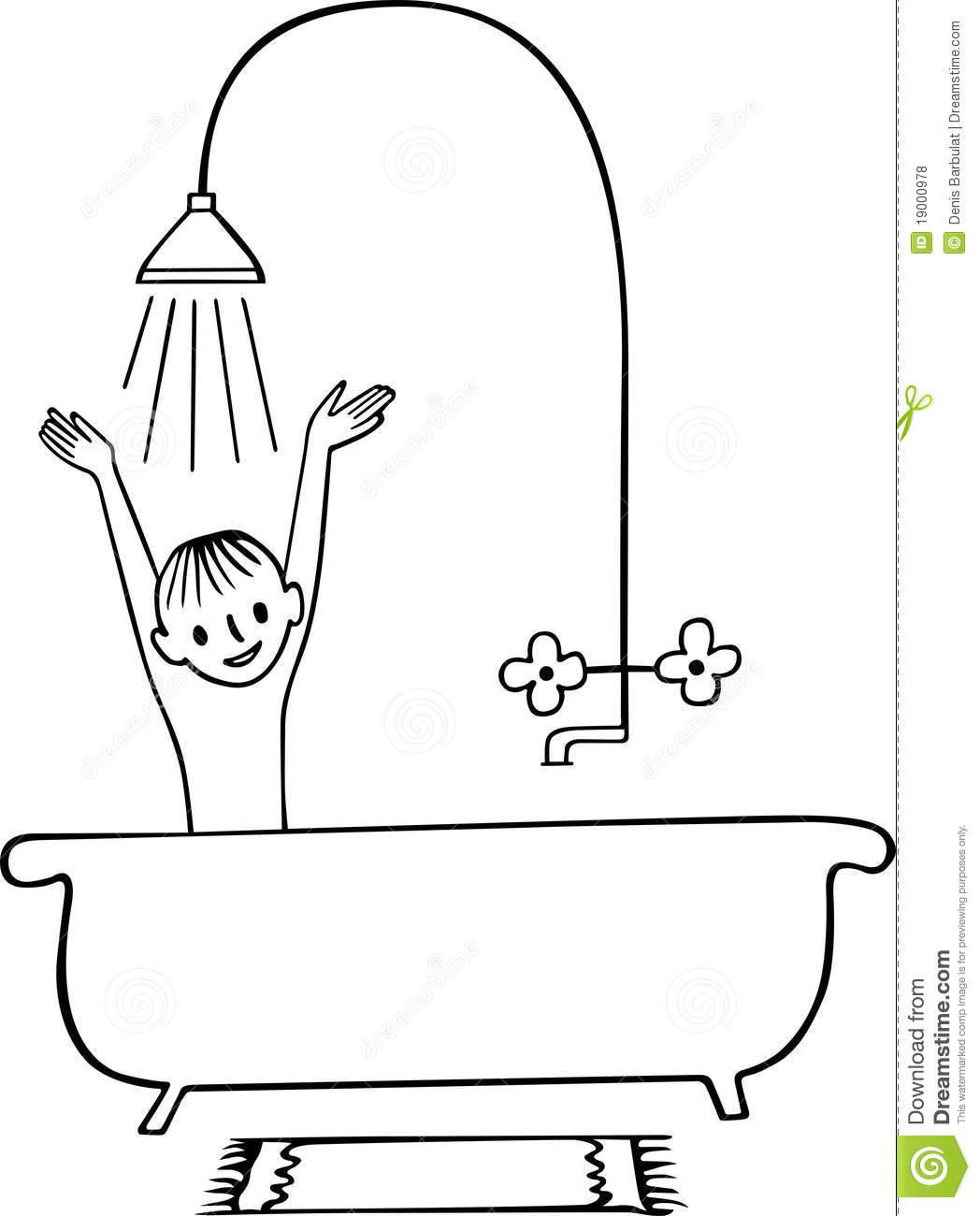 Shower Clipart Black And White 5 » Clipart Station