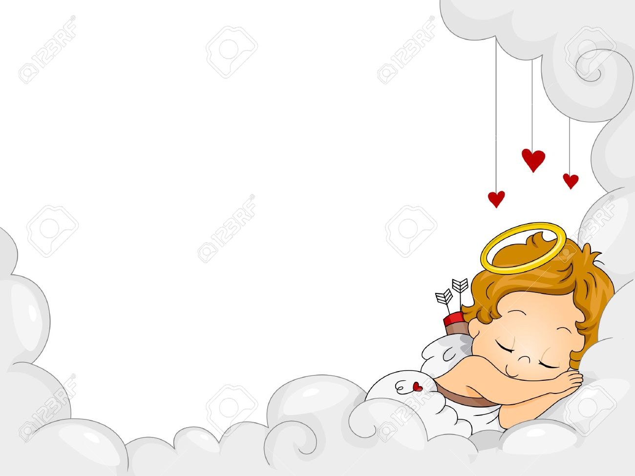 Sleeping baby angel clipart 2 » Clipart Station