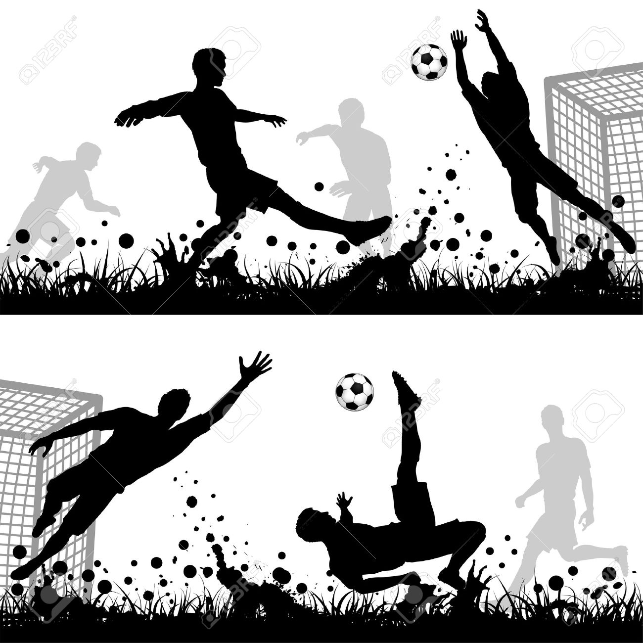 Soccer goalie black and white