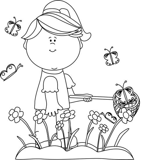 Spring season clipart black and white 1 » Clipart Station